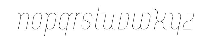 Merijntje ExtraLight Italic Font LOWERCASE