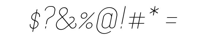 Merijntje Light Italic Font OTHER CHARS