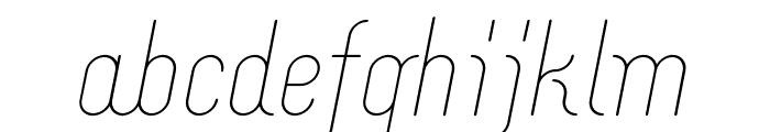 Merijntje Light Italic Font LOWERCASE
