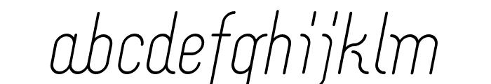Merijntje Regular Italic Font LOWERCASE