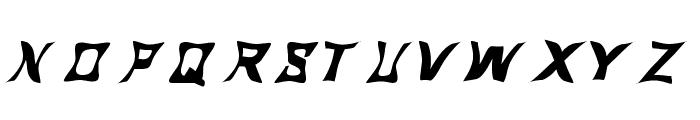 Mermaid Funky Font UPPERCASE