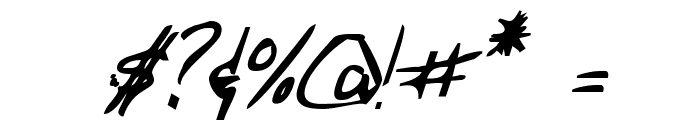 Merri Christina Bold Italic Font OTHER CHARS