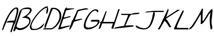 Merri Christina Bold Italic Font UPPERCASE