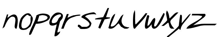 Merri Christina Bold Italic Font LOWERCASE