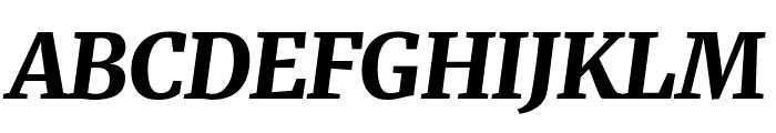 Merriweather Black Italic Font UPPERCASE