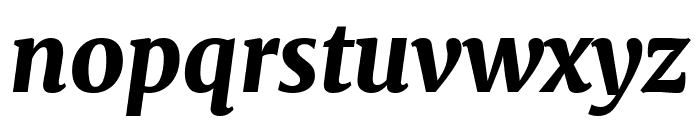 Merriweather Black Italic Font LOWERCASE