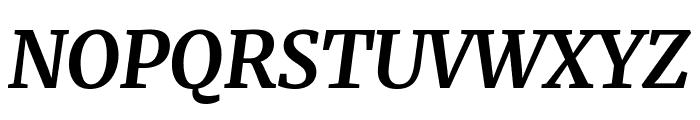 Merriweather Bold Italic Font UPPERCASE