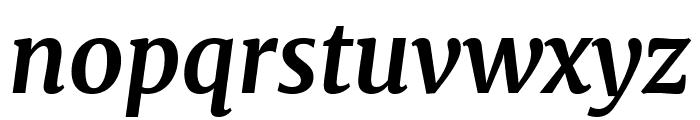 Merriweather Bold Italic Font LOWERCASE
