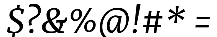 Merriweather Italic Font OTHER CHARS