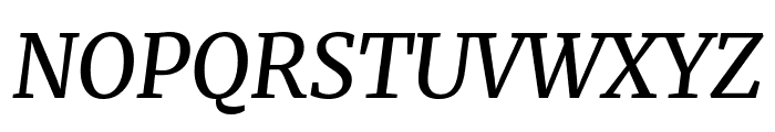 Merriweather Italic Font UPPERCASE