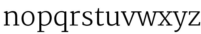 Merriweather-Light Font LOWERCASE