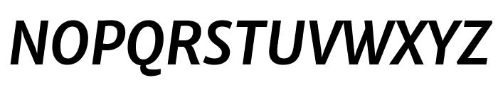 Merriweather Sans Bold Italic Font UPPERCASE