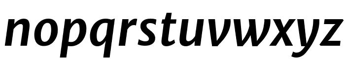 Merriweather Sans Bold Italic Font LOWERCASE