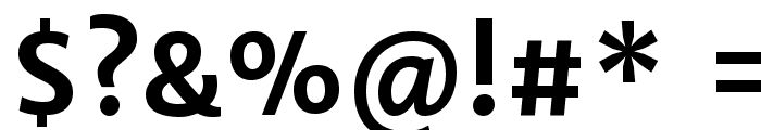 Merriweather Sans Bold Font OTHER CHARS