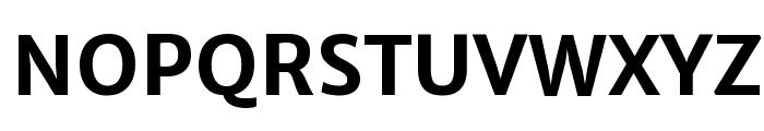 Merriweather Sans Bold Font UPPERCASE
