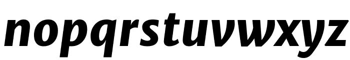 Merriweather Sans ExtraBold Italic Font LOWERCASE