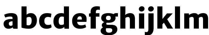 Merriweather Sans ExtraBold Font LOWERCASE