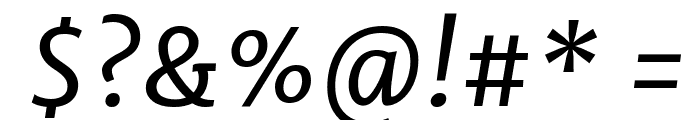 Merriweather Sans Italic Font OTHER CHARS
