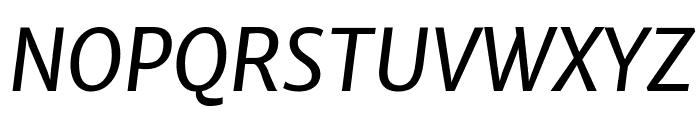 Merriweather Sans Italic Font UPPERCASE