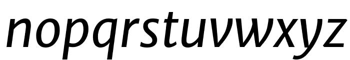 Merriweather Sans Italic Font LOWERCASE