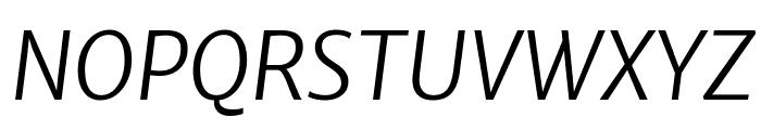 Merriweather Sans Light Italic Font UPPERCASE