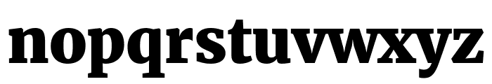 Merriweather UltraBold Font LOWERCASE