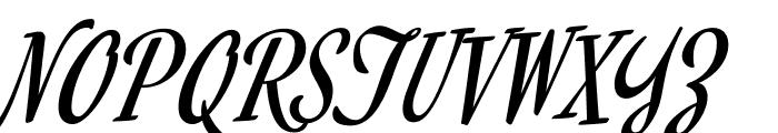 MervaleScript-Regular Font UPPERCASE