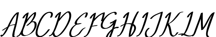 Mery Qolby Italic Font UPPERCASE