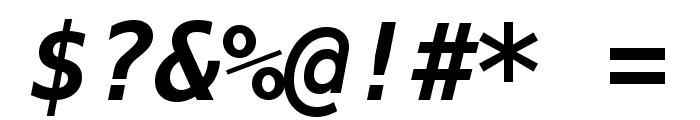 Meslo LG M DZ Bold Italic Font OTHER CHARS