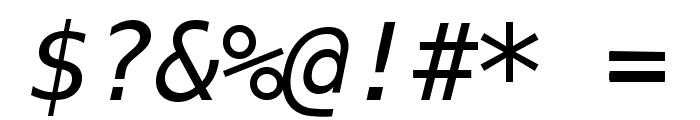 Meslo LG M DZ Italic Font OTHER CHARS