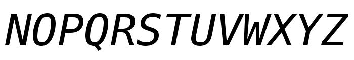 Meslo LG M DZ Italic Font UPPERCASE