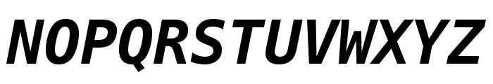 Meslo LG S DZ Bold Italic Font UPPERCASE