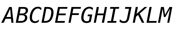 Meslo LG S DZ Italic Font UPPERCASE