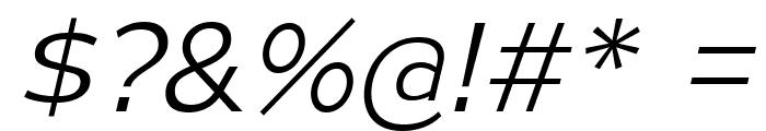 MesmerizeSeLt-Italic Font OTHER CHARS