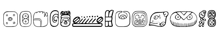 MesoAmerica Dings Four Font UPPERCASE