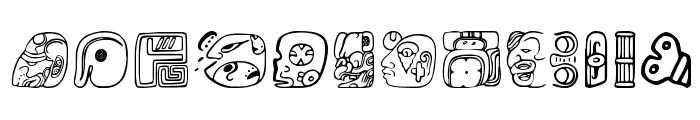 MesoAmerica Dings Four Font LOWERCASE