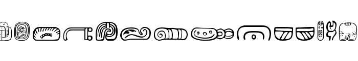 MesoAmerica Dings Three Font UPPERCASE