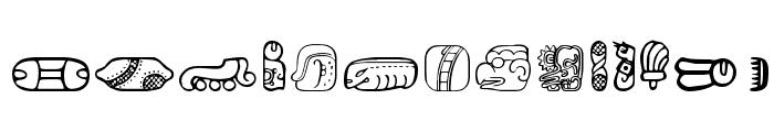 MesoAmerica Dings Three Font LOWERCASE