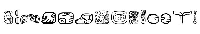 MesoAmerica Dings Two Font UPPERCASE