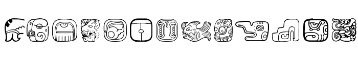 MesoAmerica Dings Two Font LOWERCASE