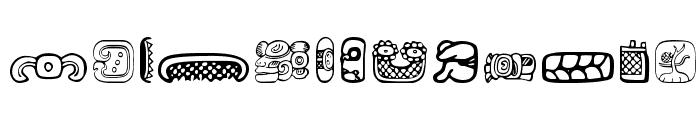 MesoAmerica Dings Font UPPERCASE