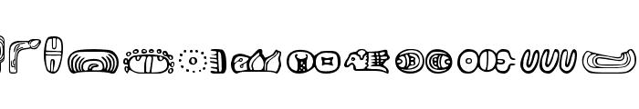 MesoAmerica Dings Font LOWERCASE