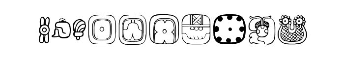 MesoAmerica Font OTHER CHARS
