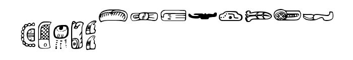 MesoAmerica Font LOWERCASE