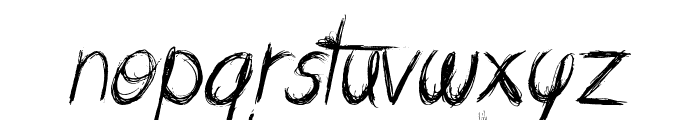 Messing About Font LOWERCASE