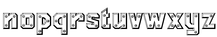 Messing Lettern Font LOWERCASE