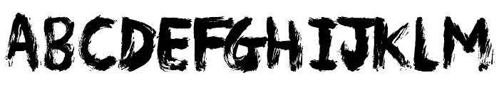 Messy Artist Font UPPERCASE