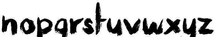 Messy Artist Font LOWERCASE