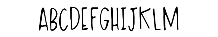 Messy Ink Pen Regular Font UPPERCASE