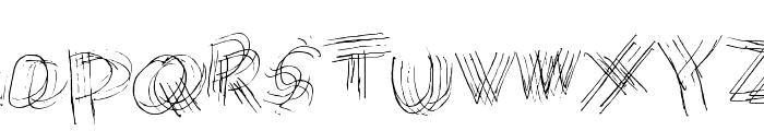 Messy Marvin Regular Font UPPERCASE
